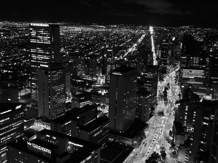 Bogota  http://fc03.deviantart.net/fs71/i/2010/348/a/3/bogota_at_night_black_white_by_joanfmendo-d34wbjp.jpg