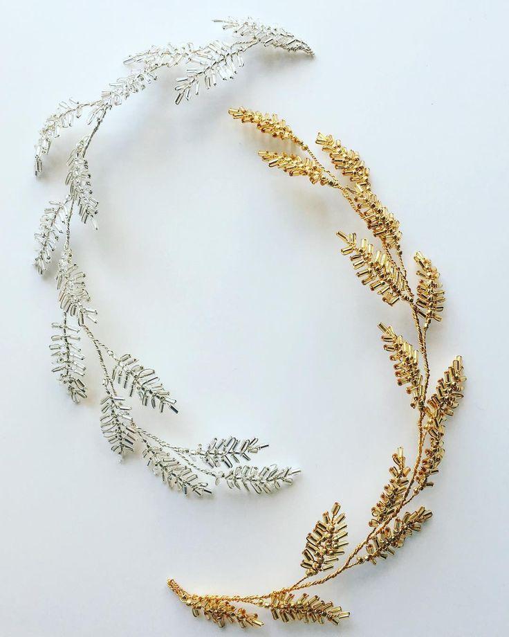 The THALIA Hairvine in Silver and Gold ✨✨✨ . . . . . . #bridalhairaccessories #weddinghair #bespokebridalaccessories #edenbstudio #newcollection #bridestyle #bridetobe #engaged #bridallook #bride #picoftheday #weddinginspo #accessoriesdesigner #friyay