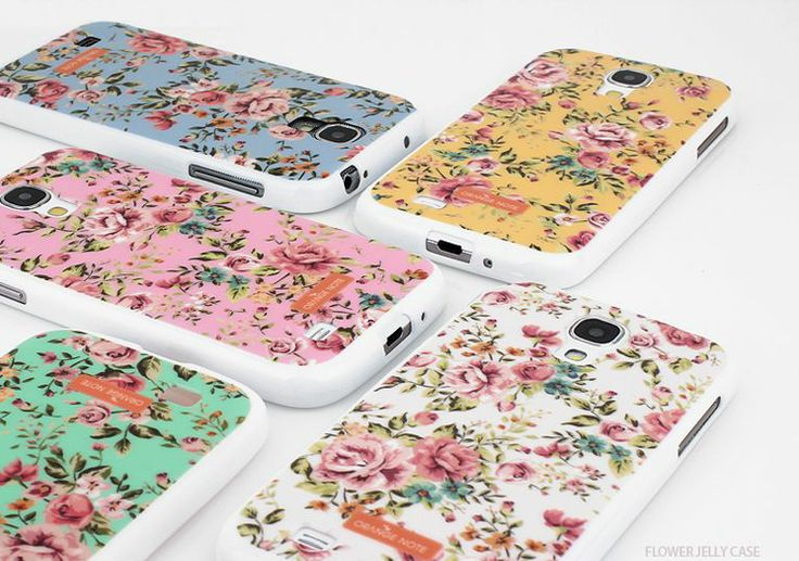 Orange Note Flower Jelly Case for Optimus F7