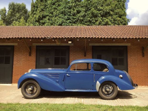 This 1938 Delahaye 135 wears striking, beautiful coachbuilt Coupe des Alpes bodywork by Guillore, and though still in need of final reassembly, new upholstery, and a few missing parts, the seller says that it's been fully dismantled and restored. Body panels are described as entirely free of ru
