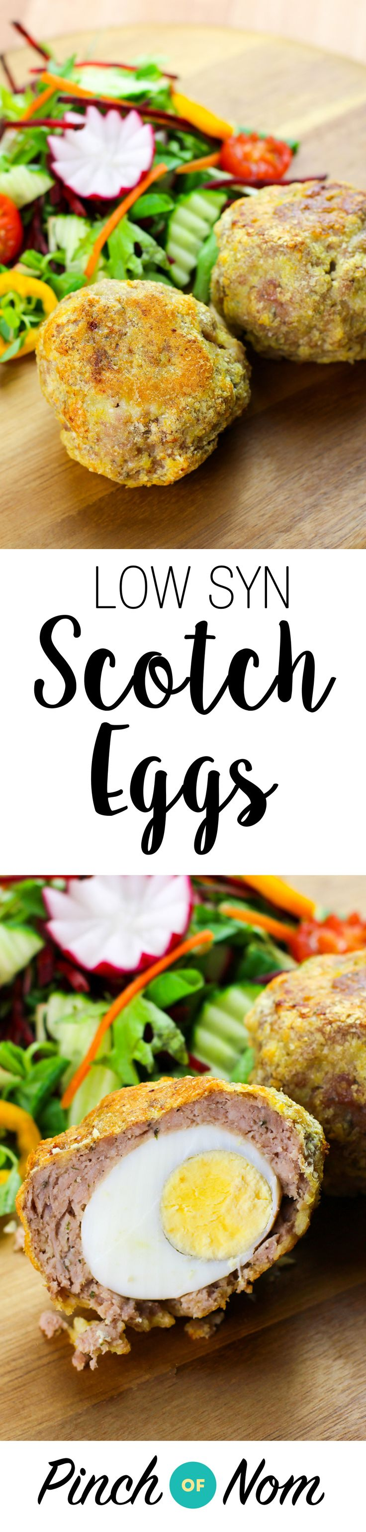 Low Syn Scotch Eggs | Slimming World - http://pinchofnom.com/recipes/low-syn-scotch-eggs-slimming-world/ (food tips slimming world)