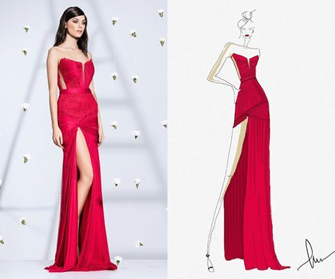 CRISTALLINI #sketch #redcarpet #fashion #eveningdress