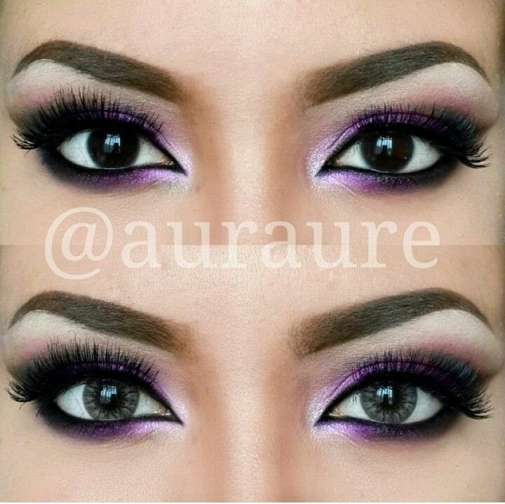 purple eye makeup prom hair dresses shoes photo