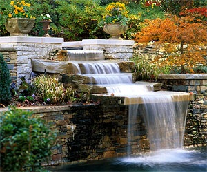 nice water feature i have always wanted a waterfall in the backyard