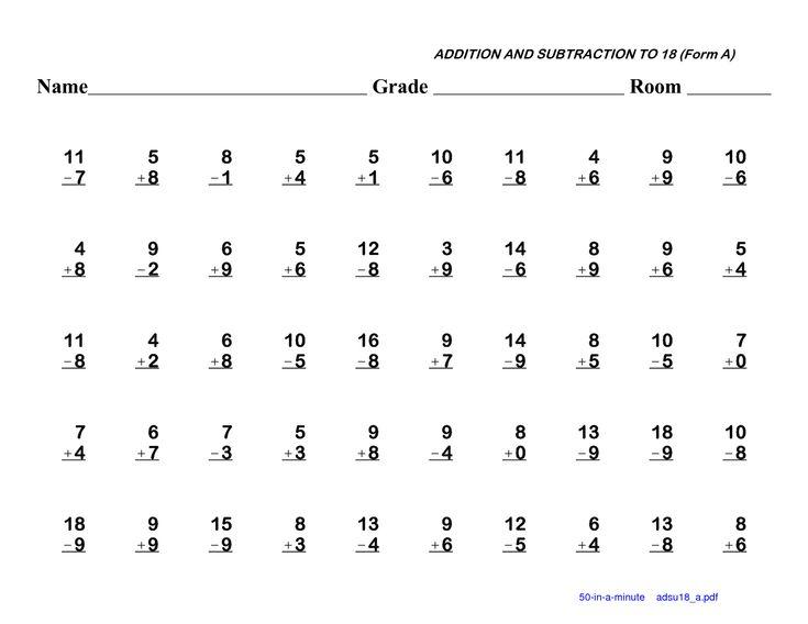 Subtraction Worksheets 1st Grade first grade subtraction – Subtraction 1st Grade Worksheets