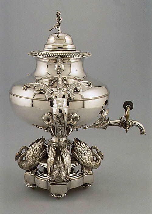 What happened to tea urns?  Tea Urn, 1845 France: French Teas, Teas Time, 1845 France, Teas Pots, Paris France, Sterling Silver, Teas Urn, Silver Teas, Metropolitan Museums