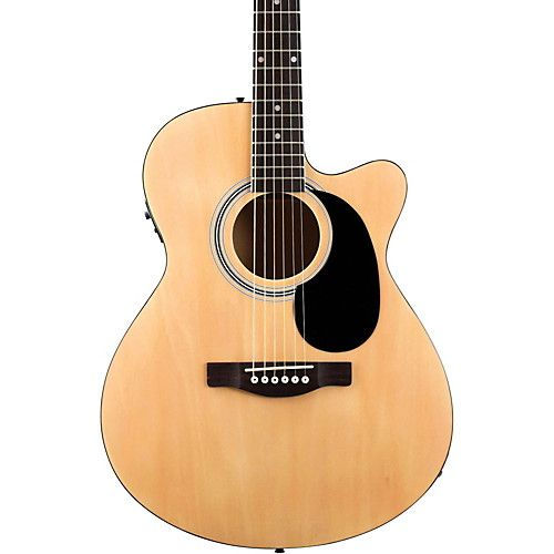 Fender FA-135CE Cutaway Concert Acoustic-Electric Guitar Natural