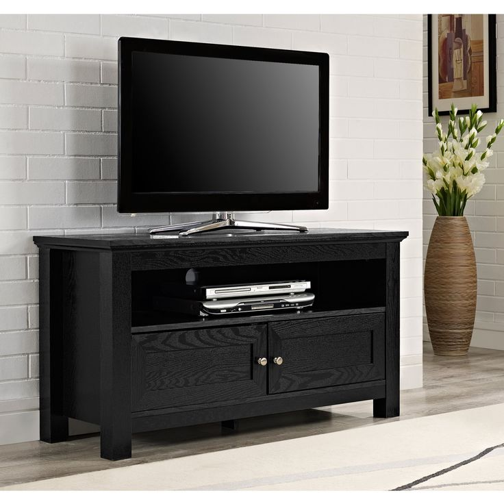 Cortez 44 Inch Black TV Stand - W44CSBL