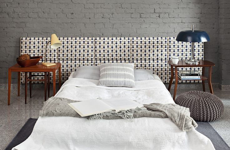 madeforbed.com, modular headboard, upholstered headboard, retro pattern, design