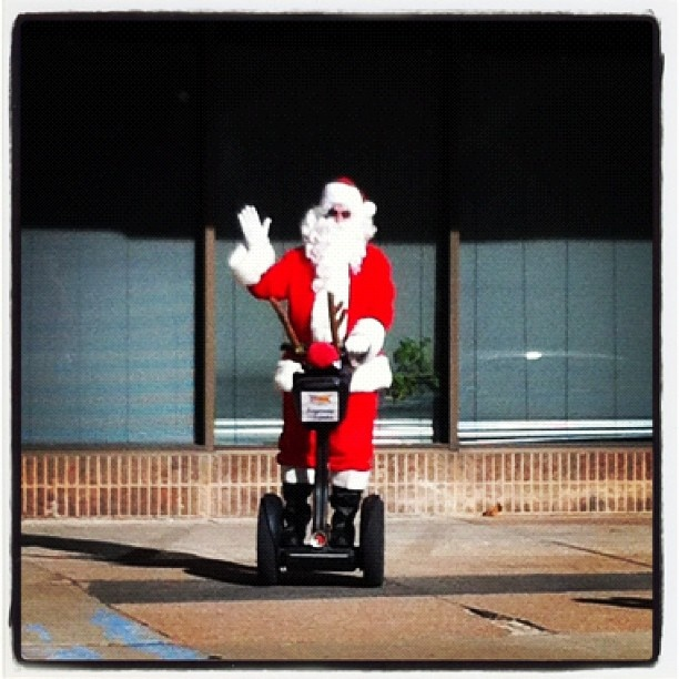 Segway Santa in Downtown OKC!