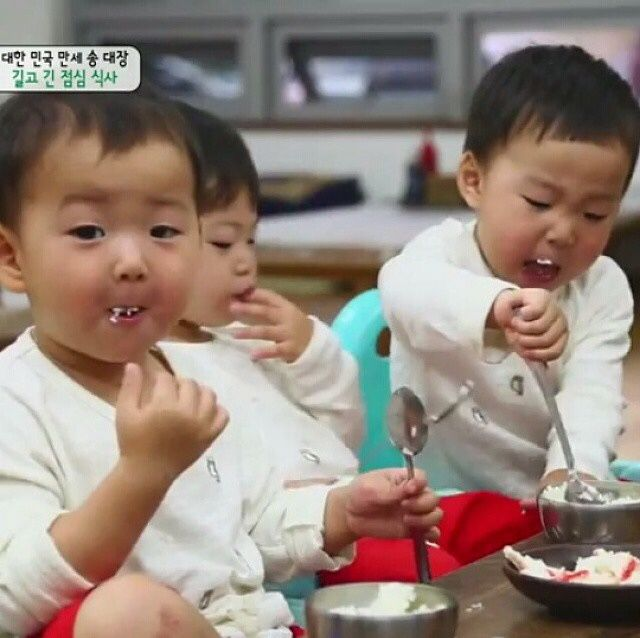 Daehan, Minguk, Manse ♡ The Return of Superman (order in pic is Minguk, Manse, and Daehan)