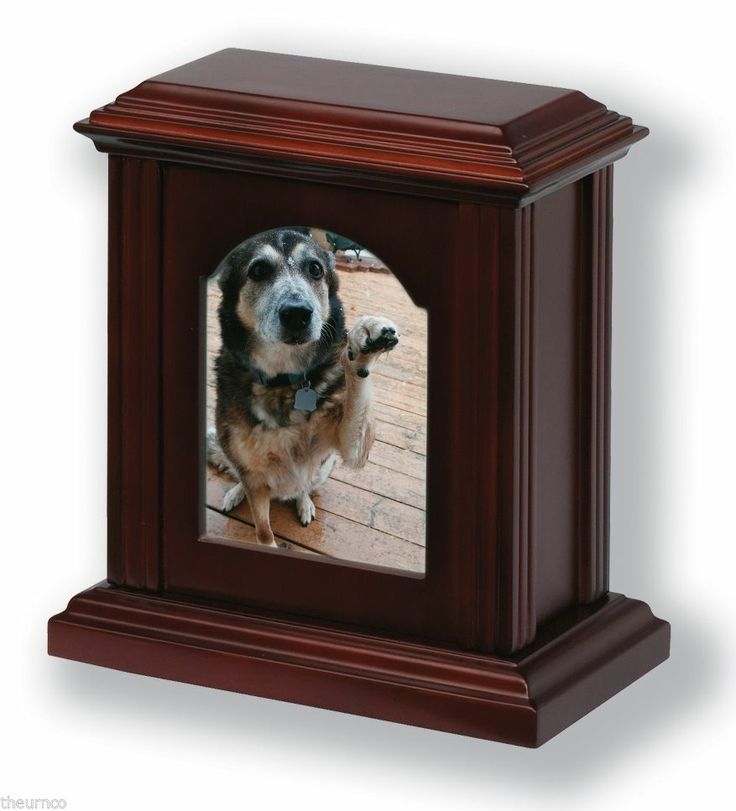New Wooden Photo Frame Cremation Pet Urn in Cherry, Oak, Mahogany Finish (LH62B)