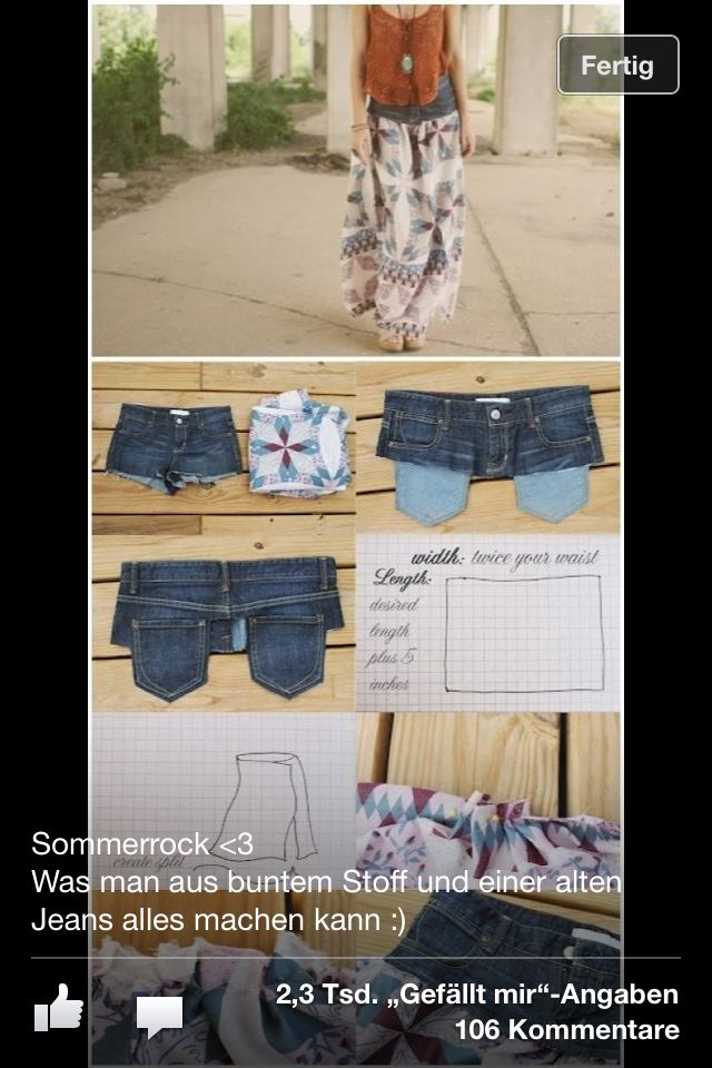 Jeans Stoff rock