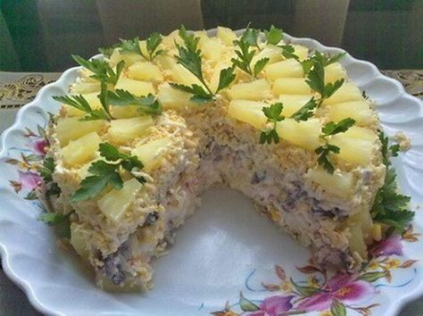Торт-салат «Чудо-слойка». Идеальный вариант для требовательных гостей, им обязательно понравится