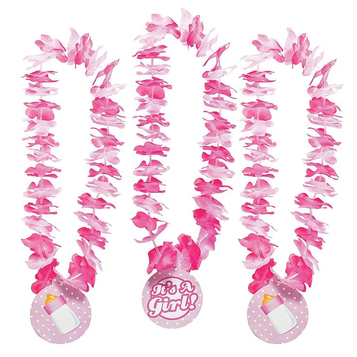 """It's A Girl!"" Leis - OrientalTrading.com  LoovVVVVVEEee this! Would go great with the monkey luau theme!"
