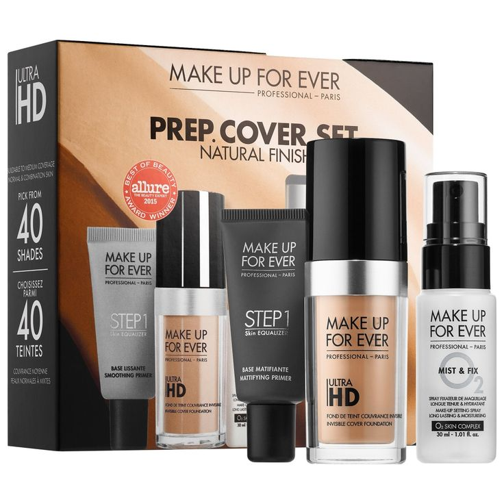 New At Sephora - MAKE UP FOR EVER PREP. COVER. SET. Customizable Ultra HD Invisible Cover Foundation Set
