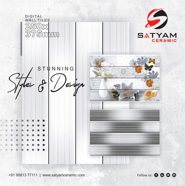Stunning Styles Design Satyam Ceramic Digital Wall Tiles 250x375 Mm Satyamceramic Satyamtiles Digitalwalltiles Walltile Wall Tiles Tiles Digital Wall