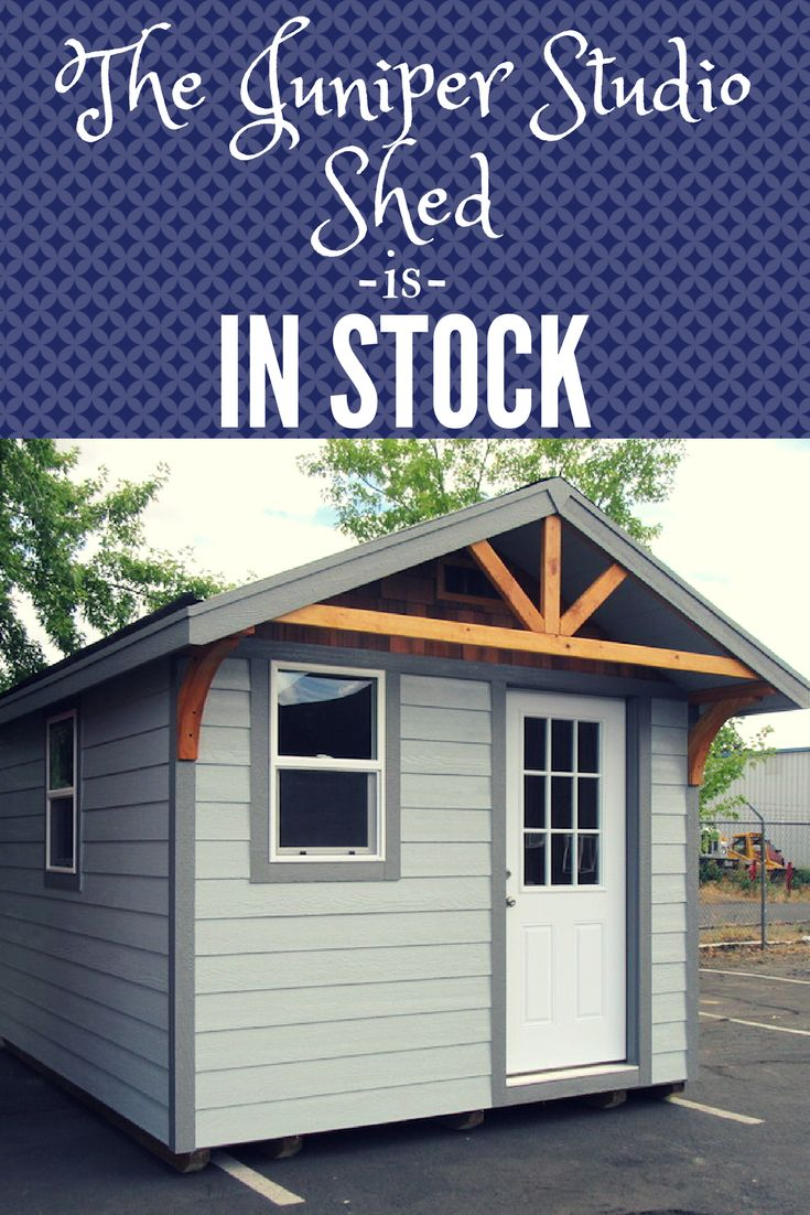 Do you need a space delivered immediately? Our Juniper Studio Shed is in stock and ready to go! The windows in this 10x12 space give a lot of natural light, making this the perfect art studio, book nook, or backyard office. What could this space do for you? Call or click today!