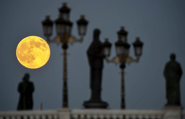 July 12, 2014 super moon in Skopje, Macedonia