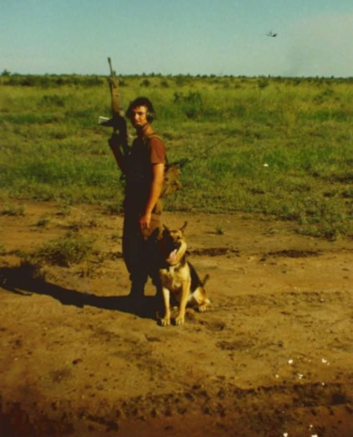 Dog handler South African Border war