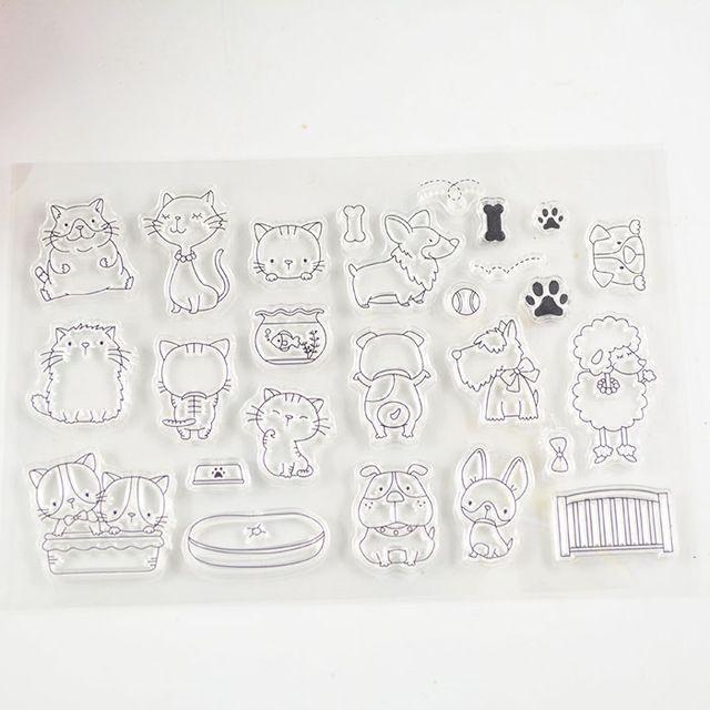 Coolhoo kat stijl clear stempel Milieuvriendelijke Transparante Stempel Voor DIY Scrapbooking/Card Making/Decoratie Benodigdheden