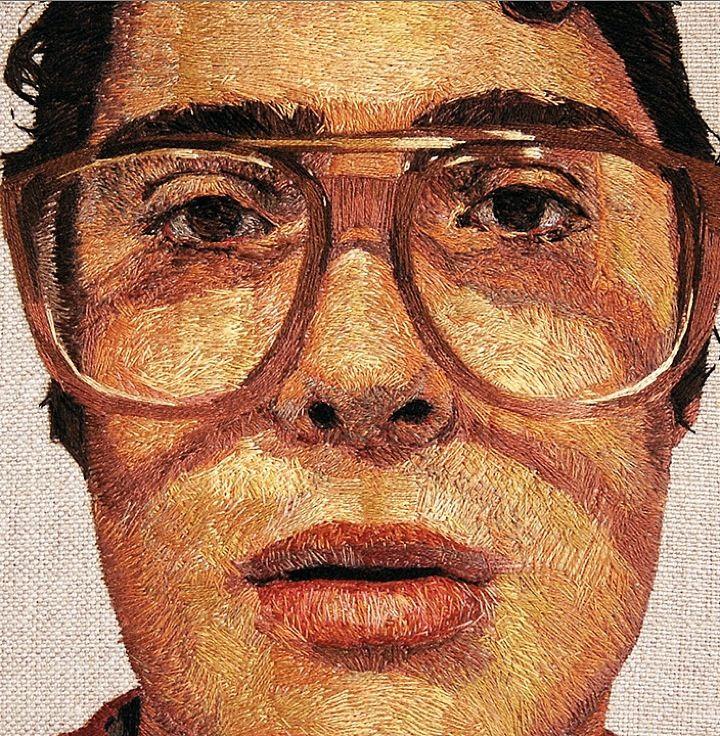 Hand stitched portraits by Daniel Kornrumpf