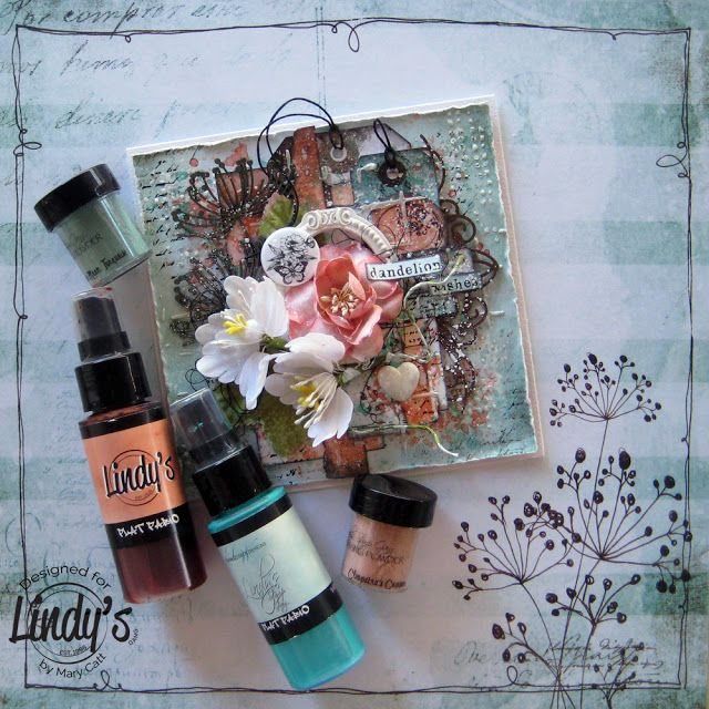 Mary's Crafty Moments: ''Dandelion Wishes'' - DT Mixed Media Card for Lin...