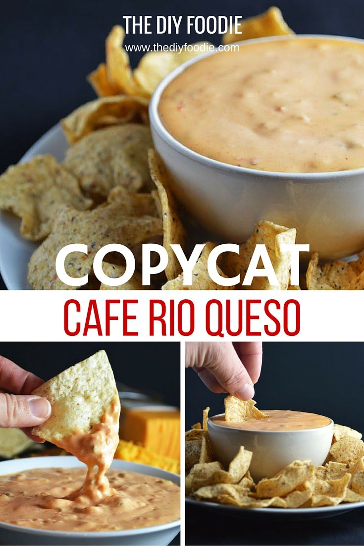 This queso tastes EXACTLY like Cafe Rio's! You can't go wrong with queso. You just can't/