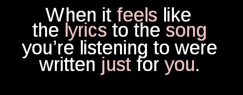 I have mixed emotions when this happens... It's usually a sad song that fits my situation perfectly