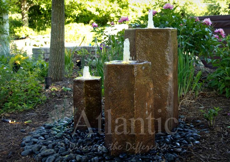 Fountains are the perfect choice for small or large outdoor spaces. Add the sound of water to your space with minimal maintenance!  Choose from anything that will fit your style whether it be a fountain piece, pottery, core drilled boulders. The options are virtually limitless when installing a fountain into your yard.
