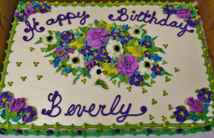 Purple Designs For Sheet Cakes