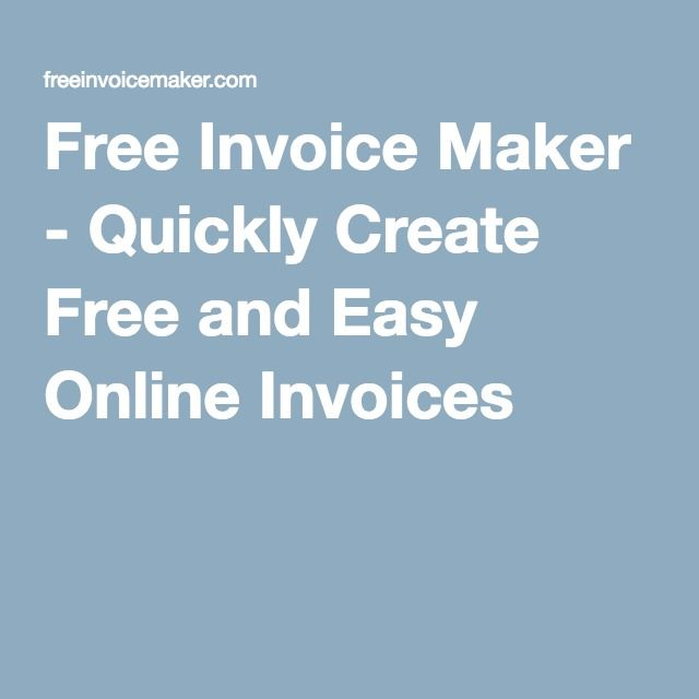 The 25+ best Free invoice creator ideas on Pinterest Pay day uk - free online resume generator