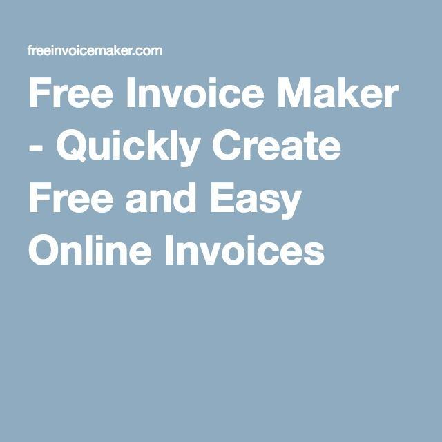 Die besten 25+ Invoice maker Ideen auf Pinterest - online invoice maker free