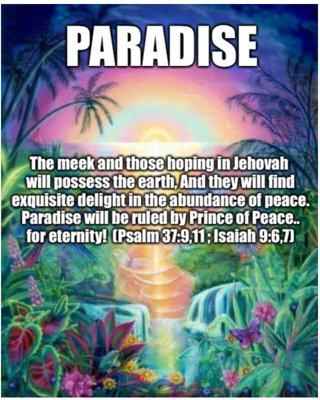 Some people think that for there ever to be a paradise on earth is just a fairy tale, a dream, a figment of the imagination or too good to be true. But are these thoughts so? No. Jehovah our God has been for telling future events 'prophecies' through His prophets for thousands of years until this very day. Prophecies have been & are continuing to come true until this very day. That proves future events yet to be seen, are yet to be fulfilled. Everything He said will come true. It's a…