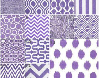 Modern Purple Crib Bedding, Baby Bedding, Crib Set, Purple Grape Chevron Stripe Dot Nursery