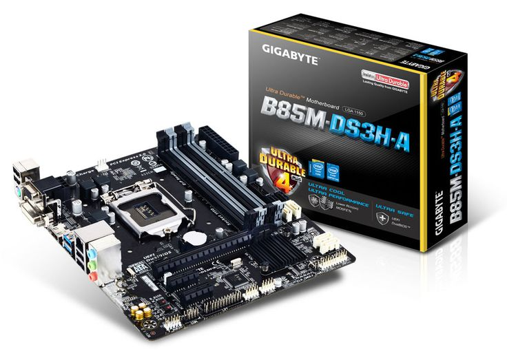 GIGABYTE GA-B85M-DS3H-A LGA1150/ Intel B85/ DDR3/ SATA3&USB3.0/ A&GbE/ MicroATX Motherboard