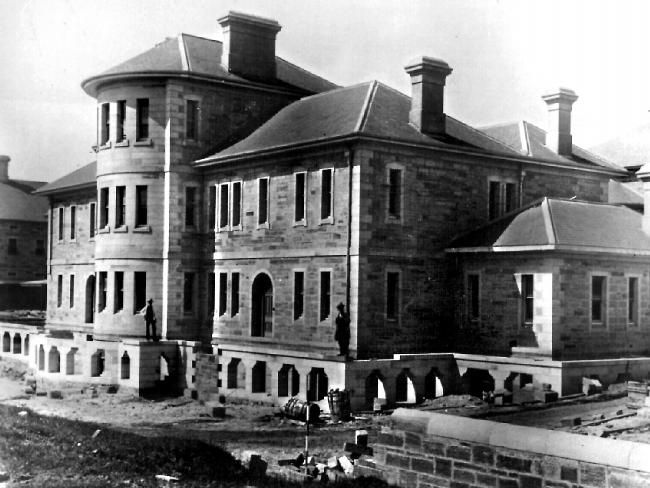 Historic Callan Park Lunatic Asylum.as it was known. Front view. In 1996 it Became a Collage for The Arts.. .