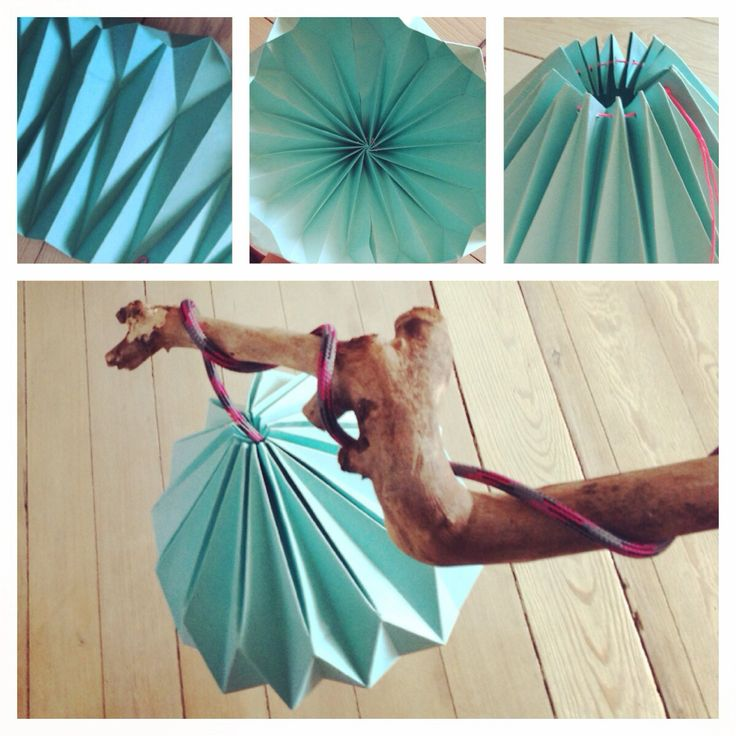 DIY • origami lampe