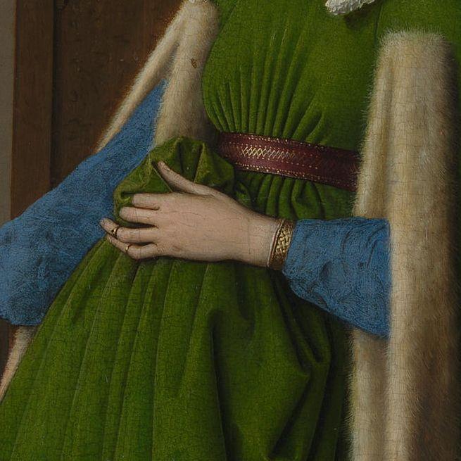 Arnolfini Portrait (detail), Jan van Eyck, 1434