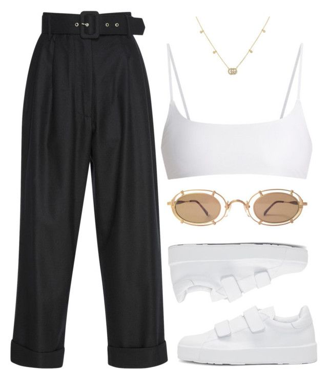 """""""Untitled #144"""" by lonelylola ❤ liked on Polyvore featuring Isa Arfen, Jil Sander, Jade Swim and Gucci"""