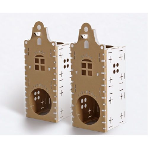 Cat Activity Centre Canal Front Kitten Cardboard Play Boxes Toy Box Card Tunnel