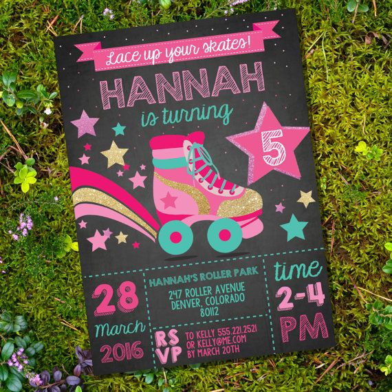 Rollerskating Party Invitation Rollerskate by SunshineParties