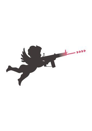 Cupid shooting hearts from gun clip art #cupidclipart