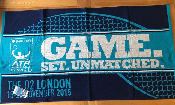 Official ATP 2015 World Tour Tennis Finals Beach Towel, Produced By Christy  | eBay