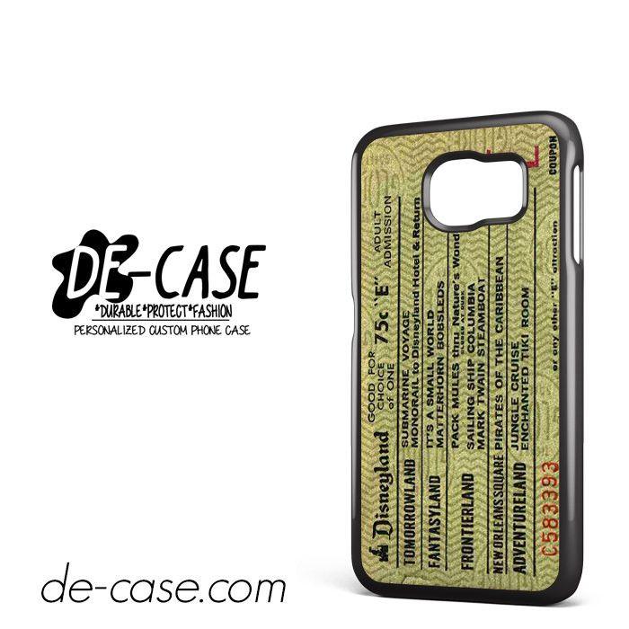Original Disneyland Ticket DEAL-8310 Samsung Phonecase Cover For Samsung Galaxy S6 / S6 Edge / S6 Edge Plus