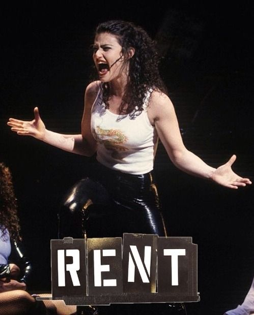 A frickin' amazing pic of Idina belting out Take Me or Leave Me in the stage production!