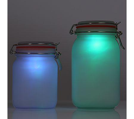2 Solar-Dekos Einmachglas