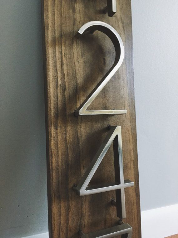 184 best images about home outside on pinterest outdoor for Modern house numbers home depot