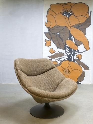 F519 Draaistoel Swivel Lounge Chair by G. Harcourt for Artifort for sale at Pamono