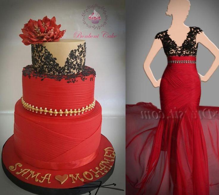 Lovely red by Bonboni Cake - http://cakesdecor.com/cakes/271804-lovely-red